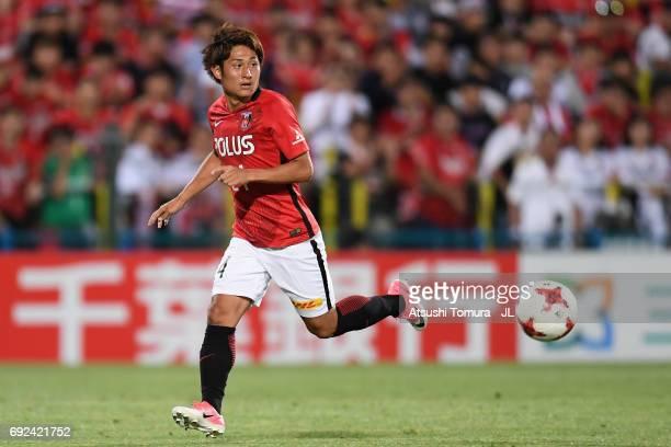 Takahiro Sekine of Urawa Red Diamonds in action during the JLeague J1 match between Kashiwa Reysol and Urawa Red Diamonds at Hitachi Kashiwa Soccer...