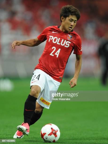 Takahiro Sekine of Urawa Red Diamonds in action during the JLeague J1 match between Urawa Red Diamonds and Jubilo Iwata at Saitama Stadium on June 18...
