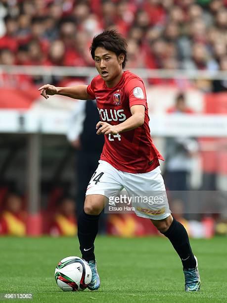 Takahiro Sekine of Urawa Red Diamonds in action during the JLeague match between Urawa Red Diamonds and Kawasaki Frontale at the Saitama Stadium on...