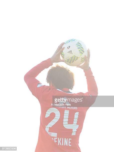 Takahiro Sekine of Urawa Red Diamonds in action during the JLeague 2016 match between Kashiwa Reysol and Urawa Red Diamonds at the Hitachi Kashiwa...