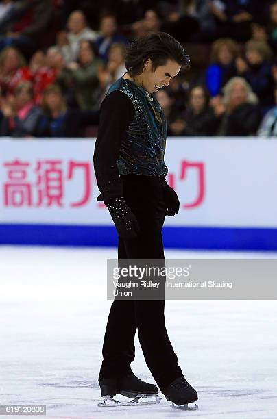 Takahito Mura of Japan competes in the Men Free Program during the ISU Grand Prix of Figure Skating Skate Canada International at Hershey Centre on...