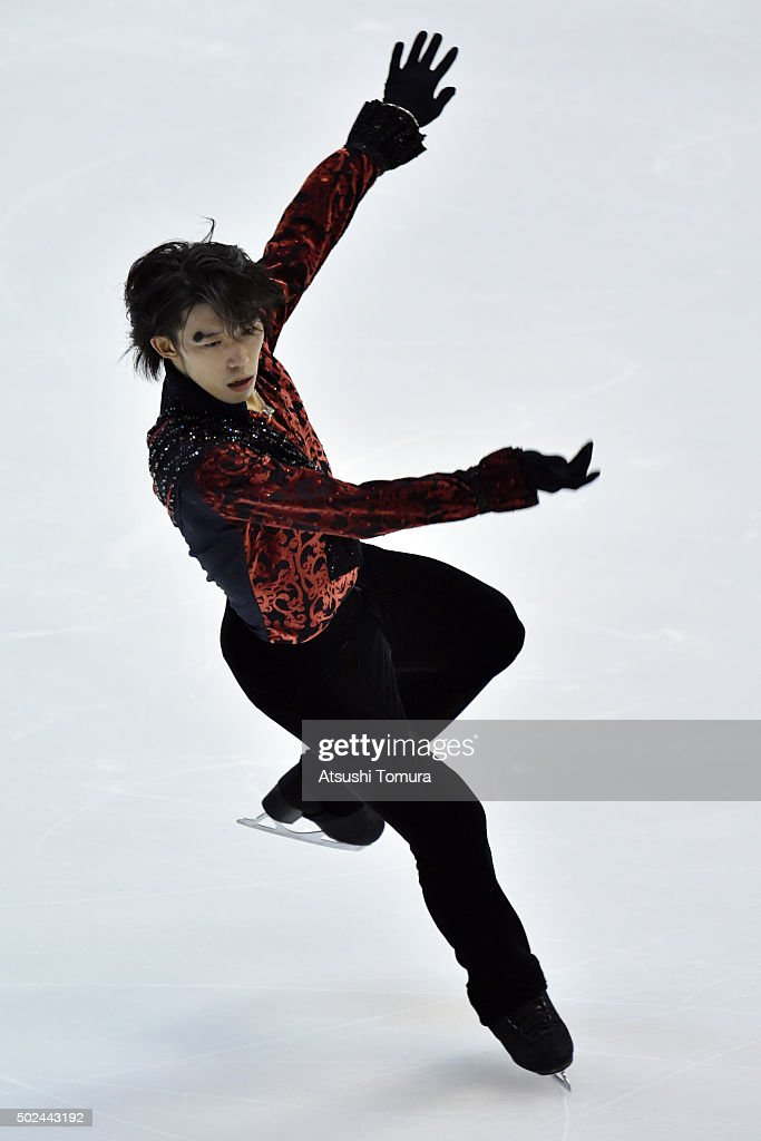 Takahito Mura of Japan competes in the Men short program during the day one of the 2015 Japan Figure Skating Championships at the Makomanai Ice Arena on December 25, 2015 in Sapporo, Japan.