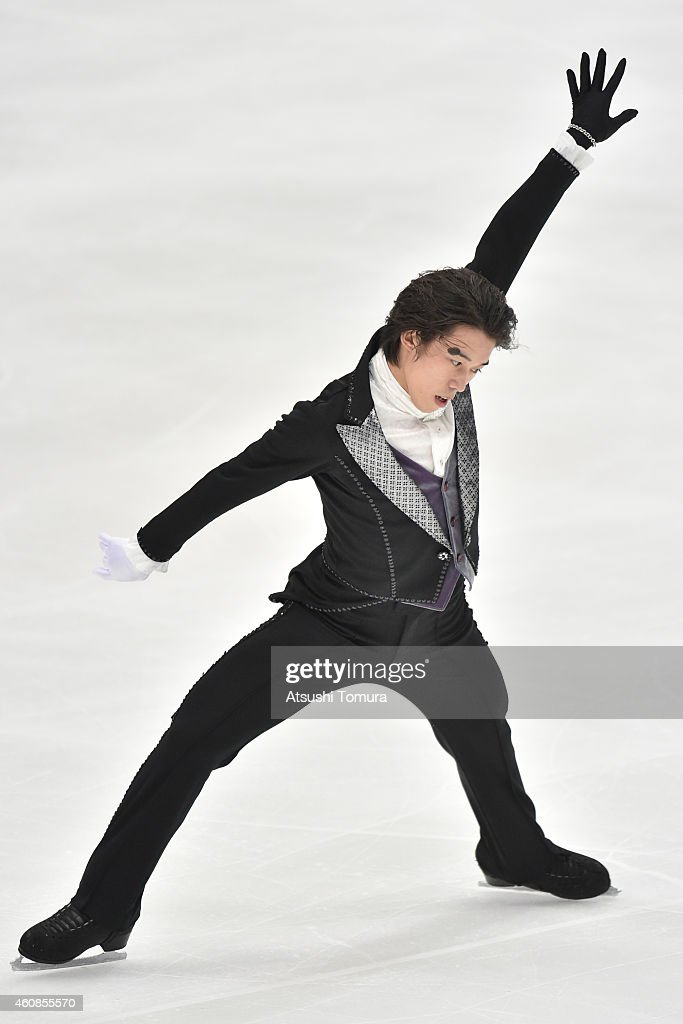Takahito Mura of Japan competes in the Men's Free Skating during the 83rd All Japan Figure Skating Championships at the Big Hat on December 27, 2014 in Nagano, Japan.