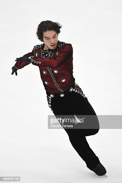 Takahito Mura of Japan competes in the Men's Short Program during the 83rd All Japan Figure Skating Championships at Big Hat on December 26 2014 in...