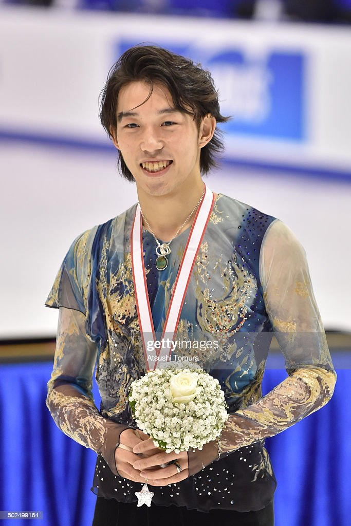 Takahito Mura (bronze) of Japan poses with his medal during the day two of the 2015 Japan Figure Skating Championships at the Makomanai Ice Arena on December 26, 2015 in Sapporo, Japan.