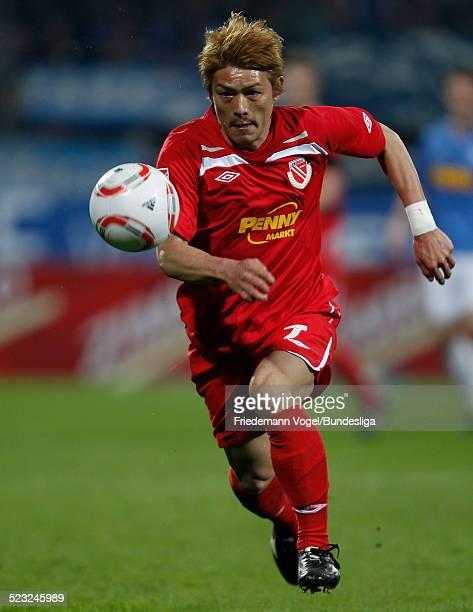 Takahito Soma von Cottbus waehrend des 2 Bundesligaspiels zwischen VfL Bochum und Energie Cottbus im rewirpowerSTADION am 21 Maerz 2011 in Bochum...