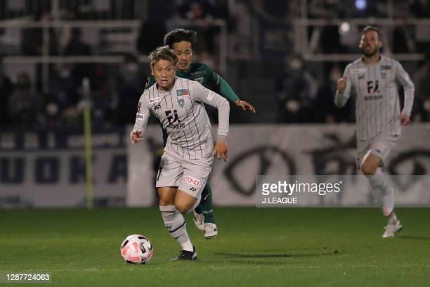 Takaki FUKUMITSU of Avispa Fukuoka in action during the J.League Meiji Yasuda J2 match between Tokyo Verdy and Avispa Fukuoka at Ajinomoto Field...