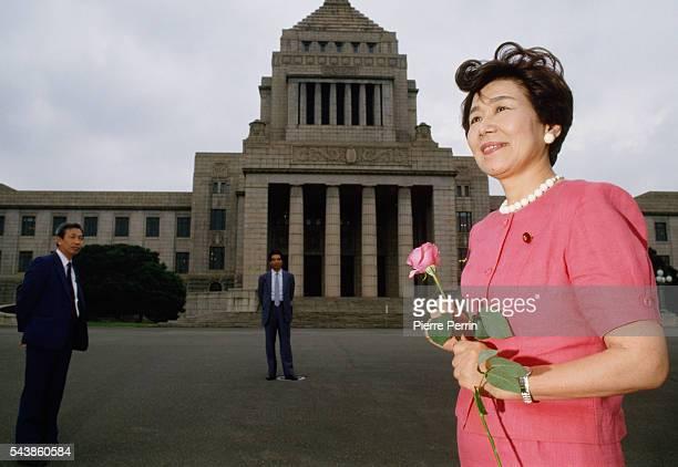 Takako Doi leader of the Social Democratic Party of Japan
