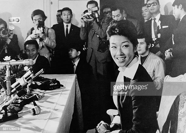 Takako Shimazu formerly the Princess Suga youngest daughter of Emperor Hirohito of Japan at the Seibu Department Store in Tokyo where she is starting...