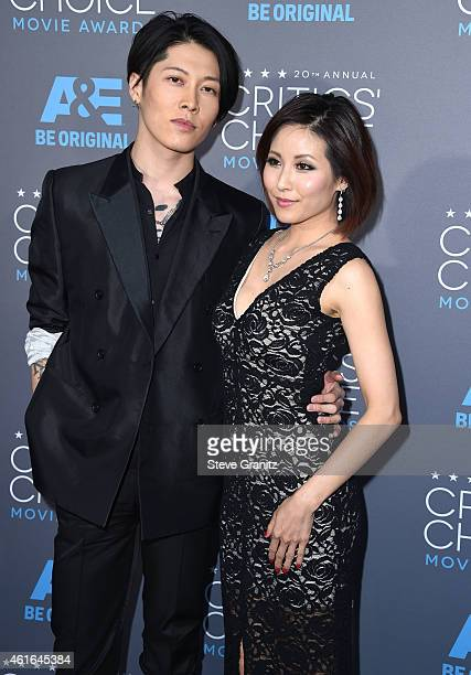 Takamasa Ishihara and Melody Ishihara arrives at the 20th Annual Critics' Choice Movie Awards at Hollywood Palladium on January 15, 2015 in Los...