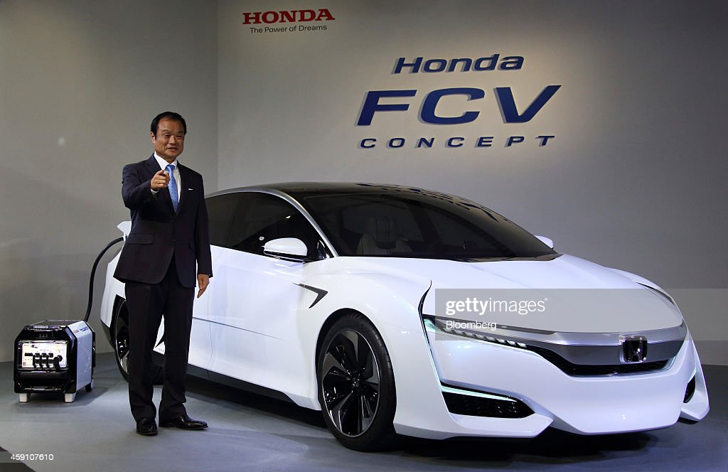 Hond Motor Co. Unveils New FCV Concept Fuel Cell Vehicle : News Photo