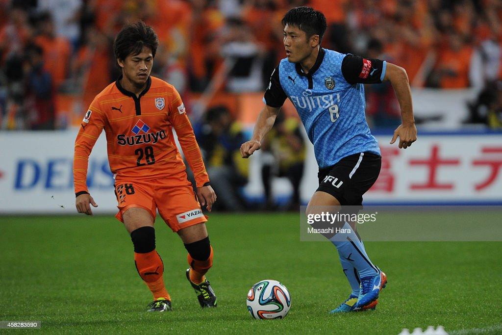Kawasaki Frontale v Shimizu S-Pulse - J.League 2014 : ニュース写真