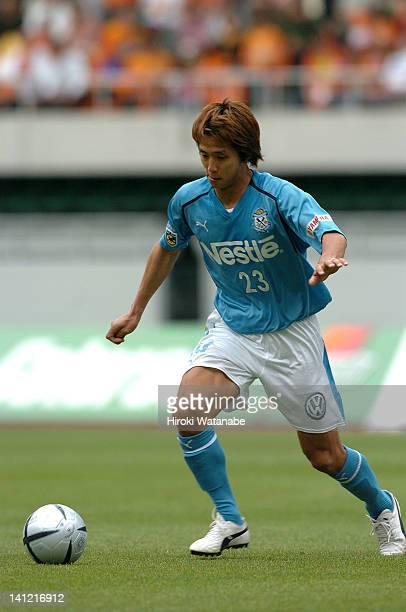 Takashi Fukunishi of Jubilo Iwata in action during the JLeague match between Shimizu SPulse and Jubilo Iwata at Shizuoka Stadium Ecopa on May 2 2004...