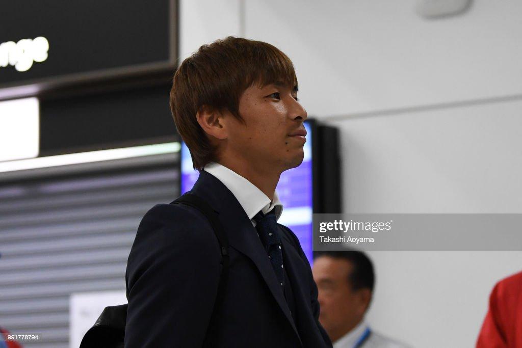 Japan National Team Returns Home : News Photo