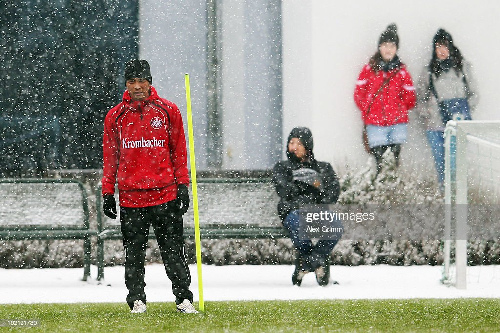 Takashi Inui looks on during a Eintracht Frankfurt training session at Commerzbank-Arena on February 19, 2013 in Frankfurt am Main, Germany.