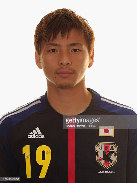 Takashi Inui of Japan poses for a portrait at the Kubistchek Plaza Hotel on June 13 2013 in Brasilia Brazil