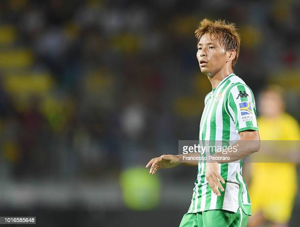 Takashi Inui of Real Betis in action during the PreSeason Friendly match between Frosinone Calcio and Real Betis on August 9 2018 in Frosinone Italy