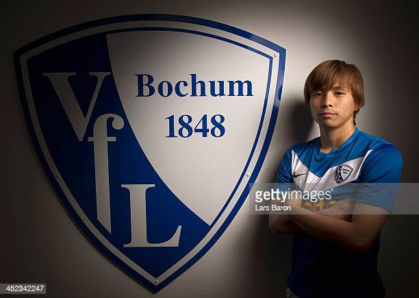 Takashi Inui of VfL Bochum poses during a portrait session at Rewirpower Stadium on March 26 2012 in Bochum Germany