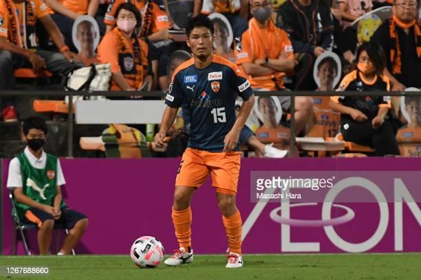 Takashi Kanai of Shimizu S-Pulse in action during the J.League Meiji Yasuda J1 match between Shimizu S-Pulse and Yokohama FC at IAI Stadium...