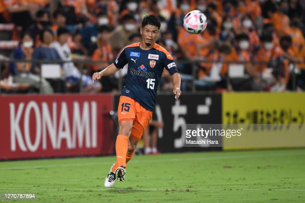 Takashi Kanai of Shimizu S-Pulse in action during the J.League Meiji Yasuda J1 match between Shimizu S-Pulse and Kashiwa Reysol at IAI Stadium...