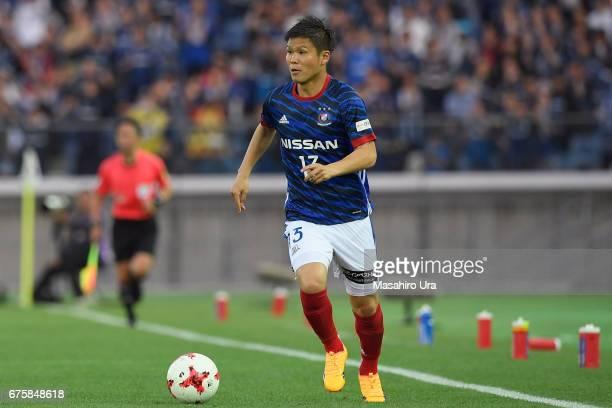 Takashi Kanai of Yokohama F.Marinos in action during the J.League J1 match between Yokohama F.Marinos and Gamba Osaka at Nissan Stadium on April 30,...