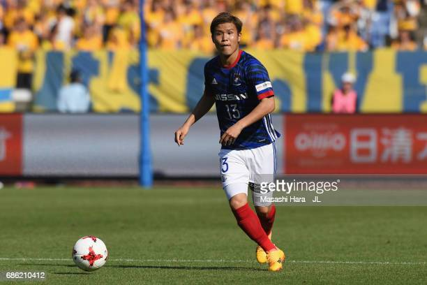 Takashi Kanai of Yokohama F.Marinos in action during the J.League J1 match between Yokohama F.Marinos and Vegalta Sendai at Nissan Stadium on May 20,...