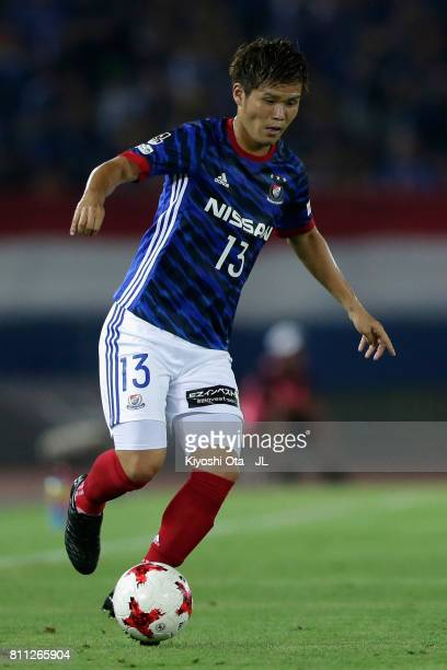 Takashi Kanai of Yokohama F.Marinos in action during the J.League J1 match between Yokohama F.Marinos and Sanfrecce Hiroshima at Nissan Stadium on...