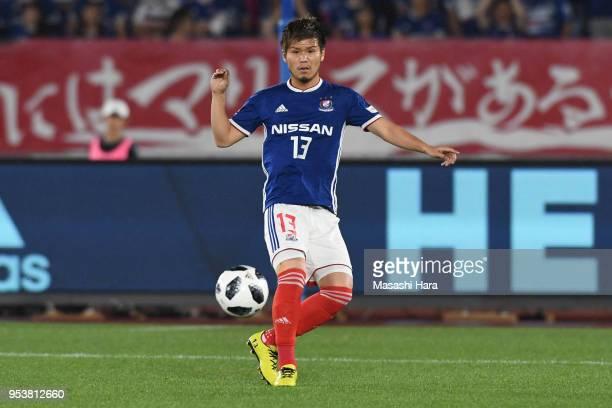 Takashi Kanai of Yokohama F.Marinos in action during the J.League J1 match between Yokohama F.Marinos and Jubilo Iwata at Nissan Stadium on May 2,...