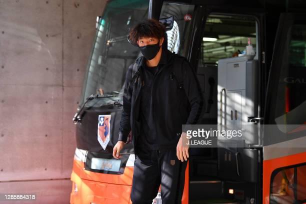 Takashi KASAHARA of Omiya Ardija is seen on arrival at the stadium prior to the J.League Meiji Yasuda J2 match between Omiya Ardija and Zweigen...