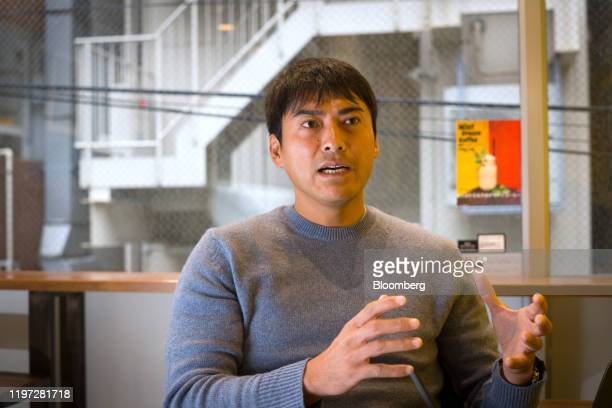 Takashi Kato chief executive officer of Fracta speaks during an interview in Tokyo Japan on Wednesday Nov 27 2019 Fracta is a software startup based...
