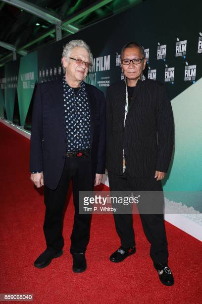 Takashi Miike and Jeremy Thomas attend the Thrill Gala UK Premiere of Blade Of The Immortal during the 61st BFI London Film Festival on October 8...