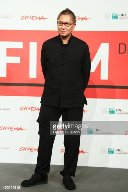 Takashi Miike attends the 'Blue Planet Brothers' Photocall during The 8th Rome Film Festival at Auditorium Parco Della Musica on November 16 2013 in...