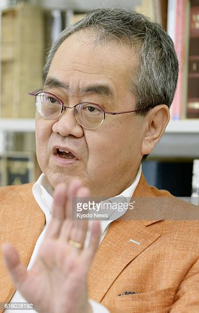 Takashi Mikuriya the acting chairman of a government panel to discuss how to reduce the burden on the emperor speaks in an interview with Kyodo News...