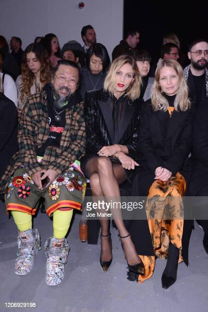 Takashi Murakami Anja Rubik and Holli Rogers attend the International Woolmark Prize 2020 during London Fashion Week February 2020 at Ambika P on...