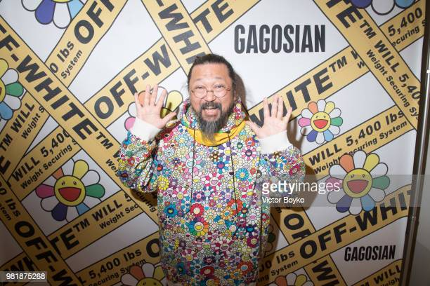Takashi Murakami attends the 'Murakami x Abloh Technocolo 2' Press Preview as part of Paris Fashion Week on June 22 2018 in Paris France