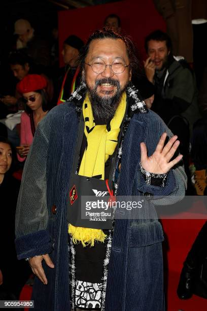 Takashi Murakami attends the Off/White Menswear Fall/Winter 20182019 show as part of Paris Fashion Week on January 17 2018 in Paris France