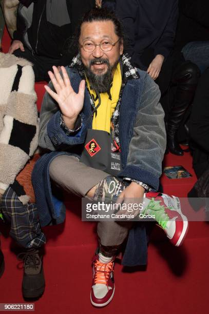 Takashi Murakami attends the Off/White Menswear Fall/Winter 20182019 show as part of Paris Fashion Wee January 17 2018 in Paris France