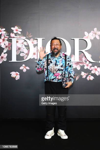 Takashi Murakami attends the photocall at the Dior Pre Fall 2019 Men's Collection on November 30, 2018 in Tokyo, Japan.