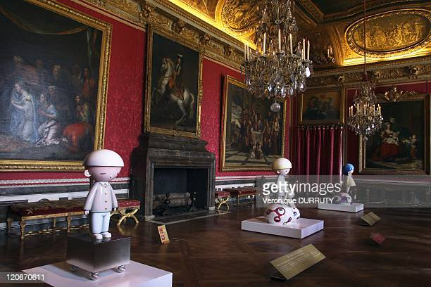 Takashi Murakami exhibition at the Chateau de Versailles in Versailles France on September 26 2010 He exhibits works of his Jellyfish Eyes series...