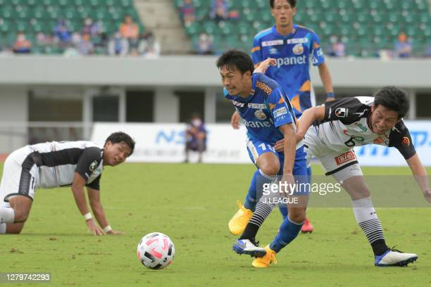 Takashi SAWADA of V-Varen Nagasaki in action during the J.League Meiji Yasuda J2 match between V-Varen Nagasaki and Renofa Yamaguchi at Transcosmos...