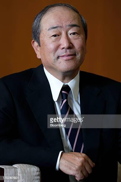 Takashi Tsukioka incoming president of Idemitsu Kosan Co poses for a photograph at the company's head office in Tokyo Japan on Friday May 31 2013...