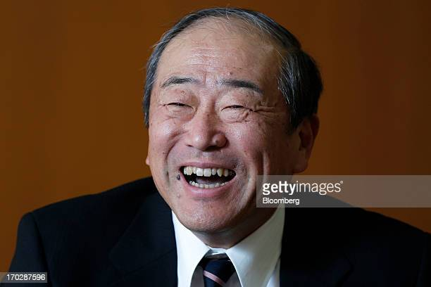 Takashi Tsukioka incoming president of Idemitsu Kosan Co reacts during an interview at the company's head office in Tokyo Japan on Friday May 31 2013...