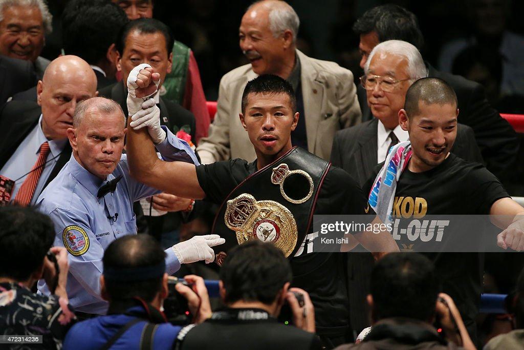 Takashi Uchiyama v Jomthong Chuwatana - WBA Super World Super Featherweight Title Bout : News Photo
