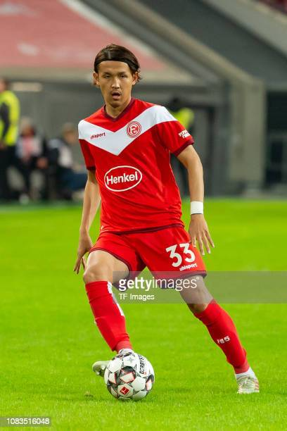 Takashi Usami of Fortuna Duesseldorf controls the ball during the Telekom Cup 2019 3rd Place match between Fortuna Duesseldorf and Hertha BSC Berlin...