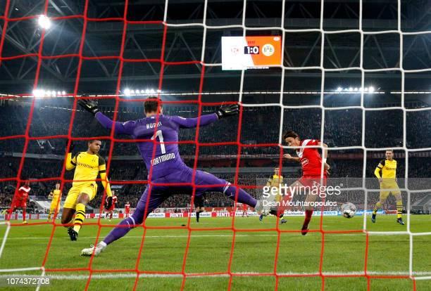 Takashi Usami of Fortuna Duesseldorf misses a chance during the Bundesliga match between Fortuna Duesseldorf and Borussia Dortmund at Esprit-Arena on...