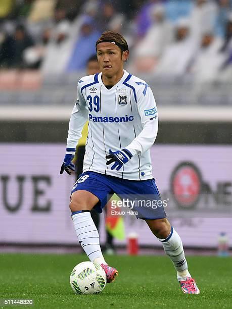 Takashi Usami of Gamba Osaka in action during the FUJI XEROX SUPER CUP 2016 match between Sanfrecce Hiroshima and Gamba Osaka at Nissan Stadium on...