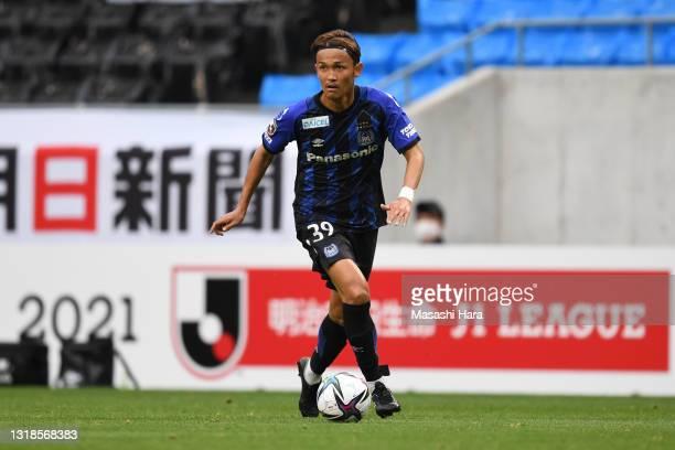 Takashi Usami of Gamba Osaka in action during the J.League Meiji Yasuda J1 match between Gamba Osaka and Urawa Red Diamonds at Panasonic Stadium...