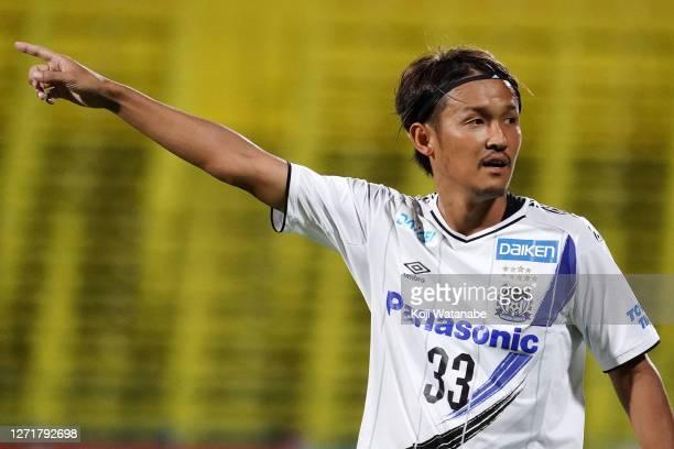 Takashi Usami of Gamba Osaka looks on during the J.League Meiji Yasuda J1 match between Kashiwa Reysol and Gamba Osaka at Sankyo Frontier Kashiwa...