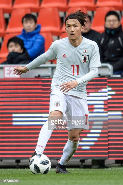 Takashi Usami of Japan during the International friendly match between Japan and Mali at the Stade de Sclessin on March 23 2018 in Liege Belgium