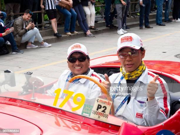 Takashi Watanabe and Kiyohiko Nasu attends 1000 Miles Historic Road Race on May 19 2018 in Milan Italy
